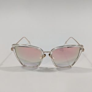 Accessories - Rose Gold Pink Cat Eye Sunglasses